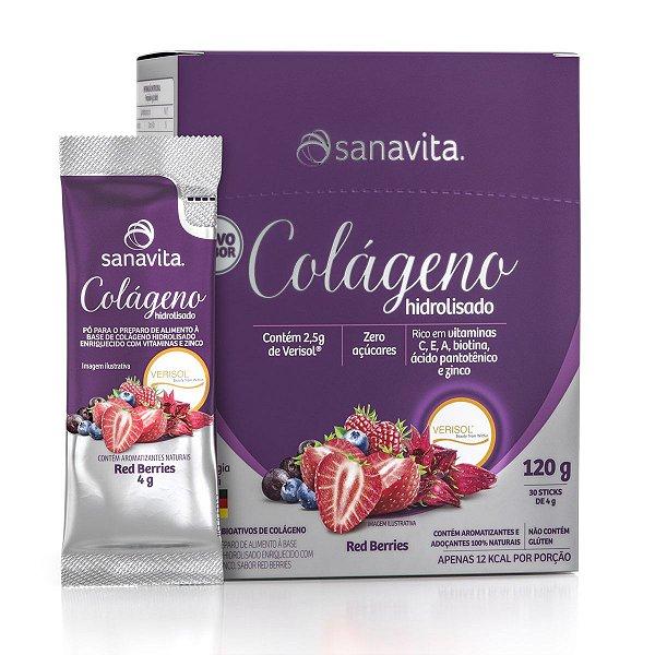 Colágeno Verisol Hidrolisado - Red Berriers - Caixa com 30 sachês