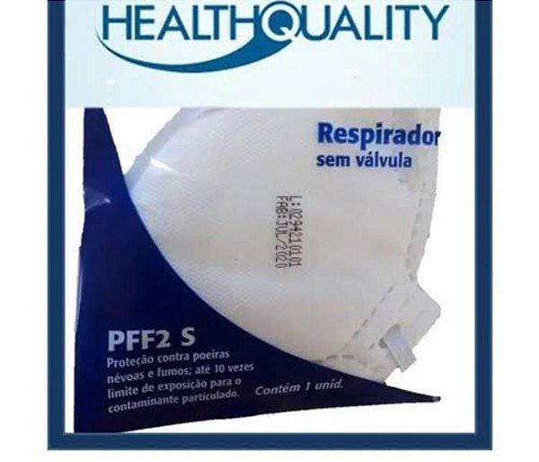Máscara De Proteção Respiratória PFF2 S/ Válvula Cor Branca - HEALTH QUALITY