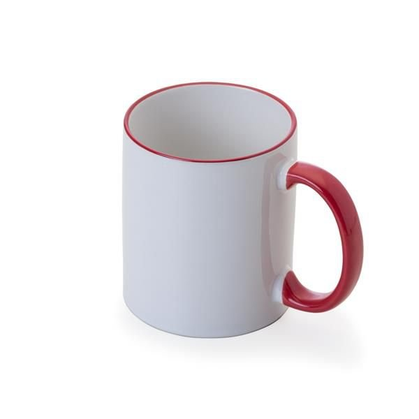 Caneca Porcelana Com interior e Alça colorida 325 ml