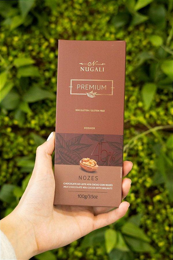 Barra De Chocolate Nugali Nozes 45% 100g