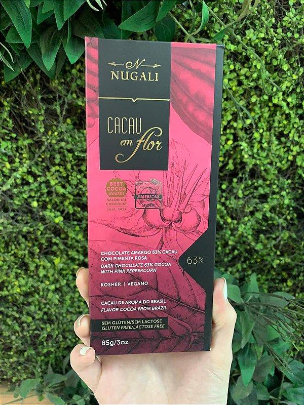 Barra De Chocolate Nugali Com Pimenta Rosa 85g