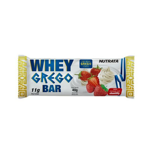 Whey Grego Bar Morango Com Chantilly 40g