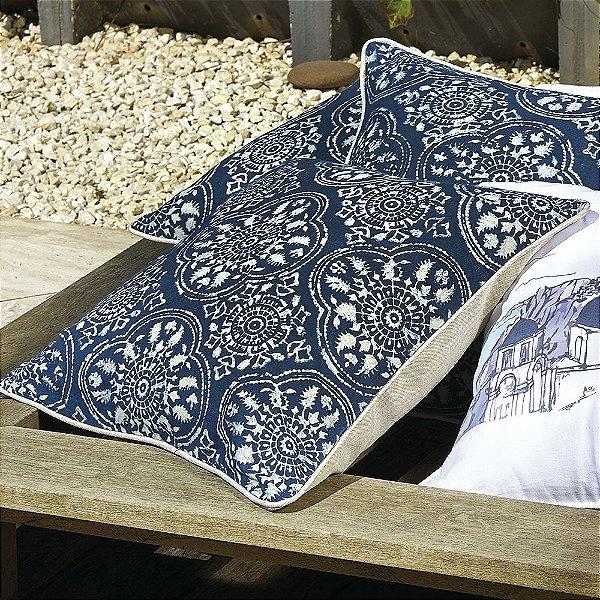 Almofada Santorini Tye Dye Azul 45x45