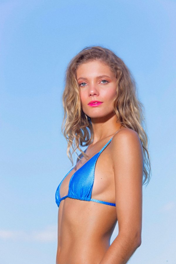 Bikini Lolla Canelado Azul Sky