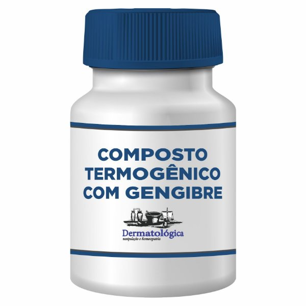 Composto termogênico e emagrecedor com Gengibre - 60 Cápsulas