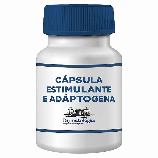 Cápsulas Estimulantes com Ashwaganda, Ginseng, Mucuna e Tribulus terrestris 60 doses.