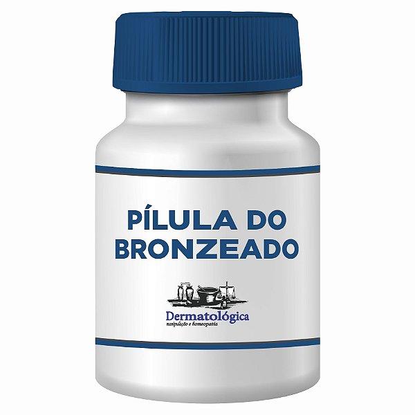 Pilula do bronzeado com betacaroteno e vitamina E