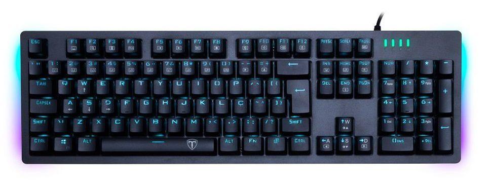 Teclado Gamer T-Dagger Bermuda Mecânico Azul RGB T-TGK312-BR