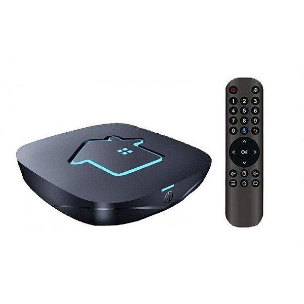 Receptor Iptv Smart Tv Htv 7 16Gb / 2Gb RAM / Android 9.0 / Bluetooth / Comando de voz - Preto