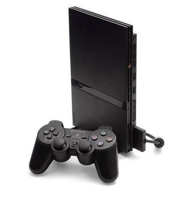 PS2 Slim Desbloqueado + 1 Controle Com fio + 5 Jogos - Seminovo