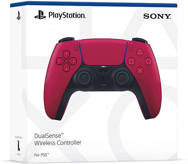 PS5 Controle Joystick Playstation 5 DualSense Sem Fio Original Vermelho Sony