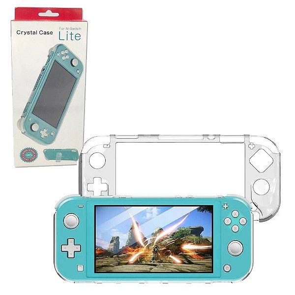 Case Crystal Transparente Com Apoio Nintendo Switch Lite (YH-40)