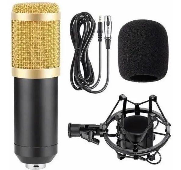 Microfone Estúdio Profissional Condensador - Bmax (BM-800)