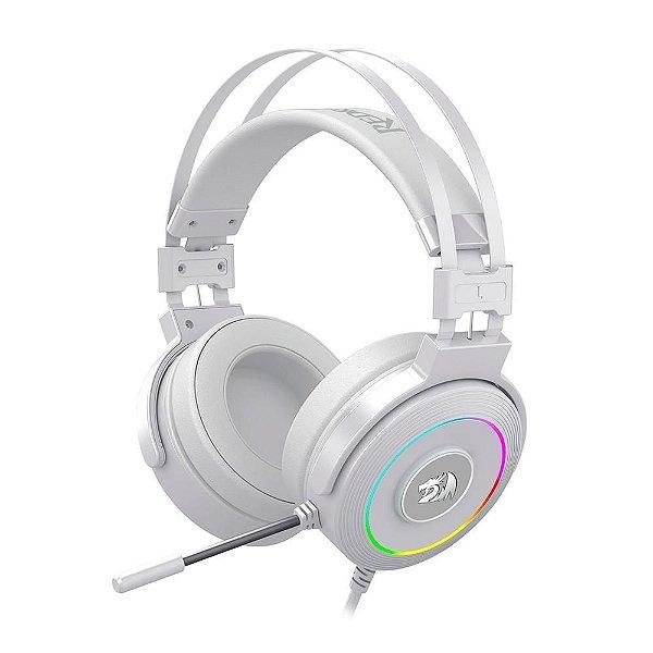Headset Gamer Redragon Lamia 2, RGB, 7.1 Som Surrond, Drivers 40mm, Branco - H320W-RGB