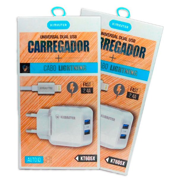 Carregador Turbo iPhone i8 + Cabo Lightning