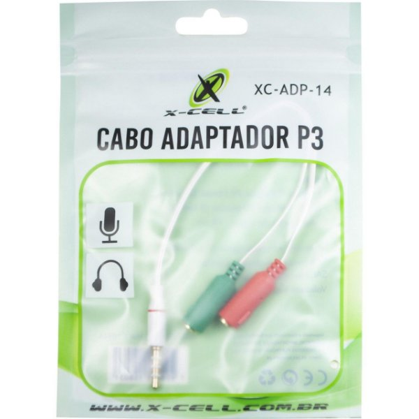 Adaptador 2 P2 Femea x 1 P3 Macho Xc-Adp-14