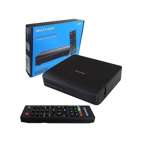 Conversor Digital + Gravador p/ Tv Multilaser Re219