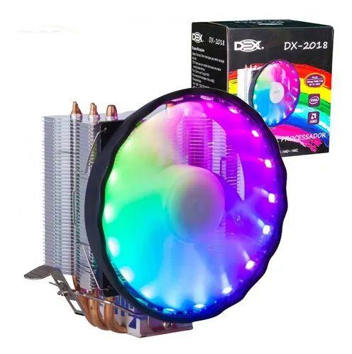 Cooler p/ Processador Universal c/ Led Rgb Dex Dx-2018