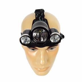Lanterna - Cabeça + Bicicleta - Bateria - Led