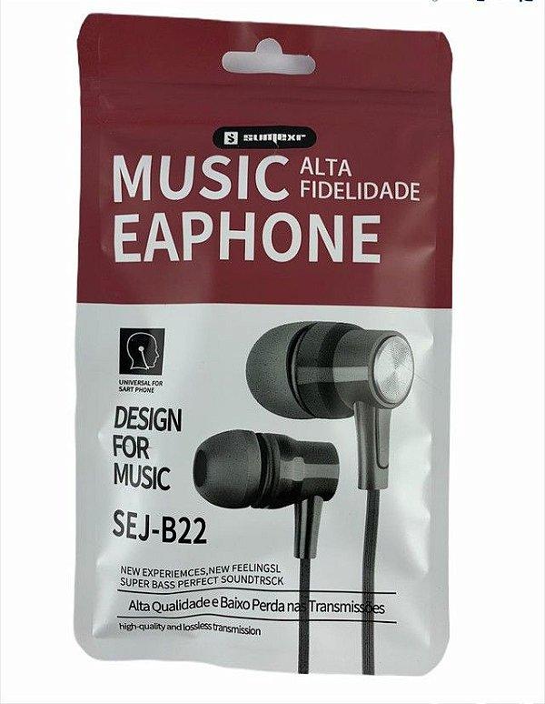 Fone de Ouvido P2 c/ Microfone - Sumexr Sej-B22