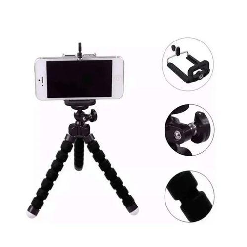 Mini Tripé Flexível e Bastão de Selfie p/ Celular Renux Re-Spo-5129
