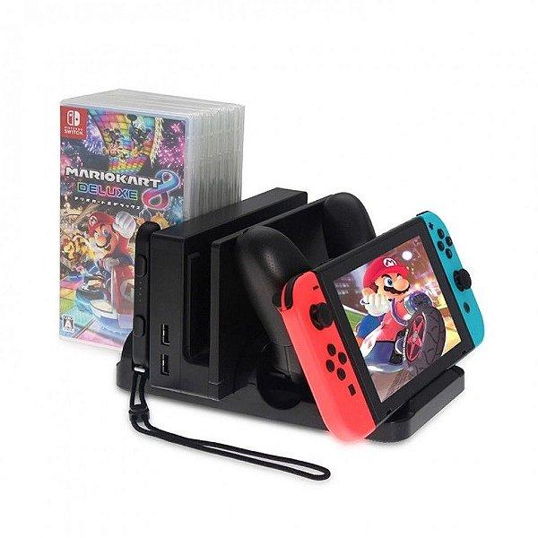 Suporte Stand Nintendo Switch Dock Carregador Dobe Tns-895