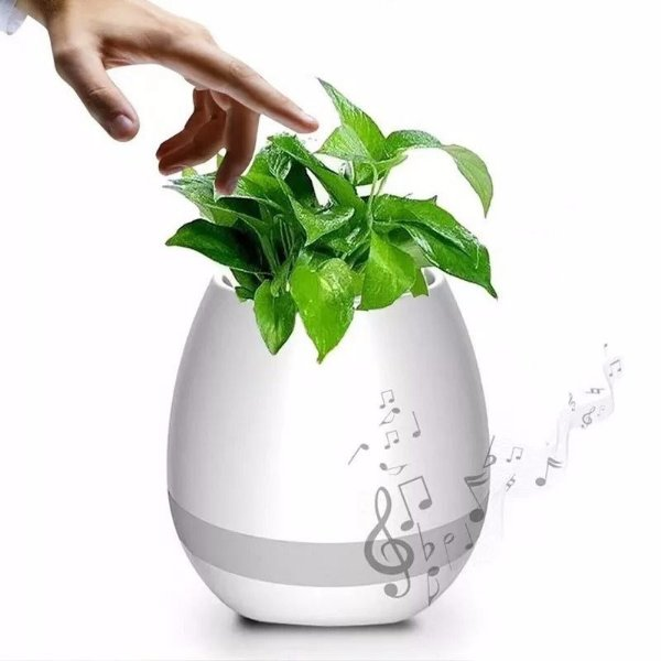 Vaso Plantas c/ Caixa de Som Smart Music Flowerpot Bluetooth