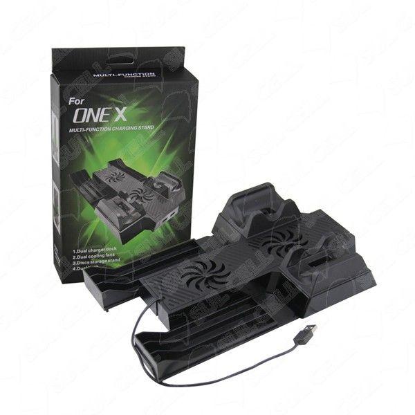 Base Stand Vertical Cooler+Hub Usb Xbox One S/X Feir Fr-398