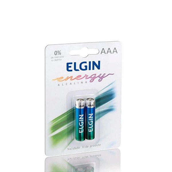 Pilha Alcalina Elgin Aaa Pacote C/ 2