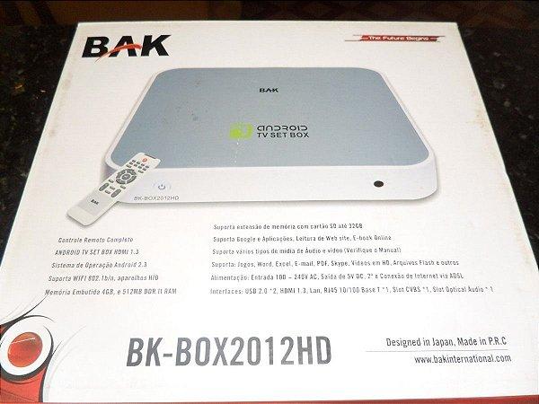 Tv Box Android Bak Bk-Box2012Hd