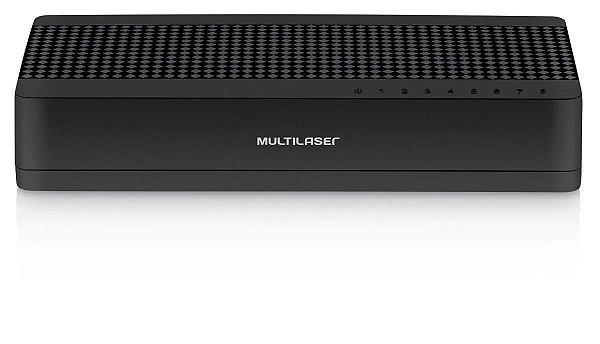 Hub de Rede Switch 8 Portas 10/100 Mbps Rj45 Multilaser