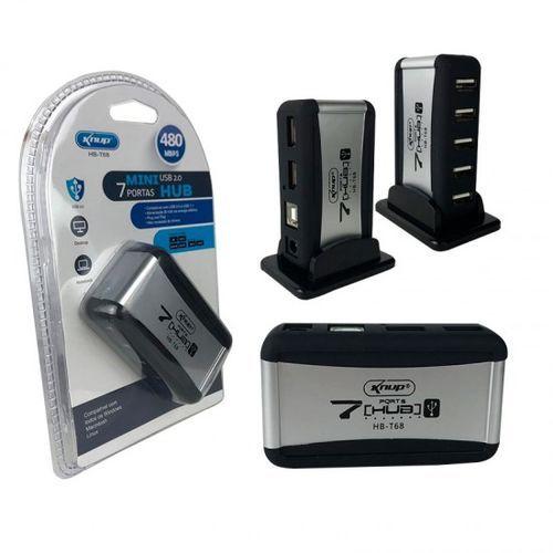 Mini Hub Usb 7 Portas C/ Fonte Usb 2.0 480Mbps Knup Hb-T68