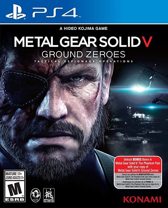 Ps4 - Metal Gear Solid V: Ground Zeroes