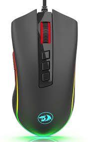 Mouse Gamer Redragon King Cobra Chroma RGB, 24000 DPI, 7 Botões Programáveis, Black, M711-FPS