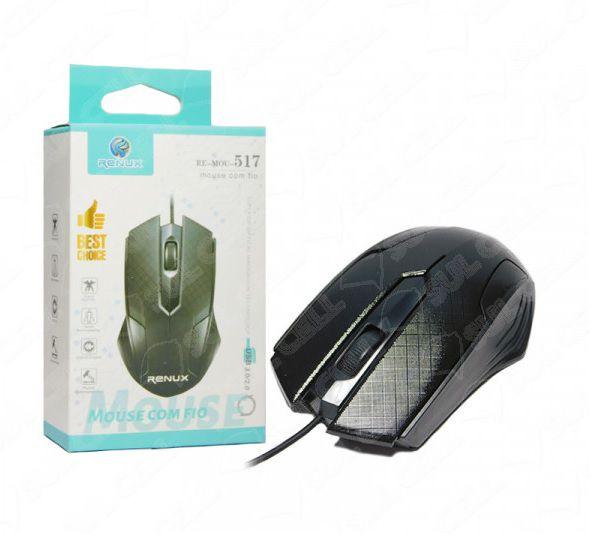 Mouse Optico c/ Fio USB (RE-MOU-517)