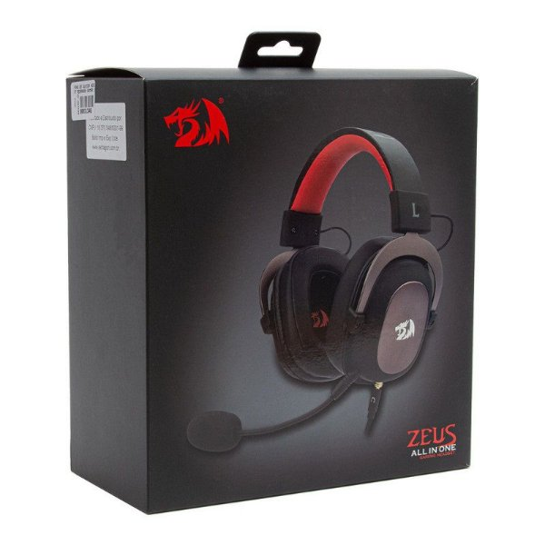 Headset Redragon Zeus 2 Gaming 7.1 USB - Preto (H510-1)