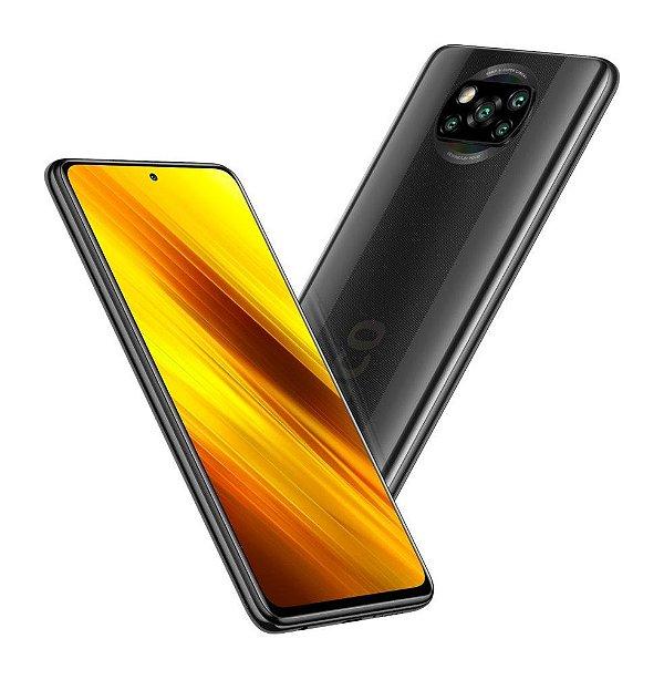 """Celular Xiaomi Pocophone Poco X3 Dual 64Gb Rom / 6Gb Ram / Camera Quadrupla 64+13+2+2MP / Tela 6.67""""  - Power Black"""