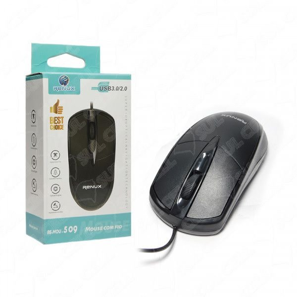 Mouse Optico c/ Fio USB (RE-MOU-509)