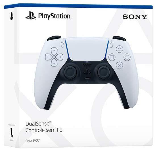 PS5 Controle Joystick Playstation 5 DualSense Sem Fio Original Branco Sony