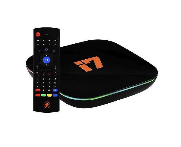 Receptor Azamerica I7 IPTV 32GB / Game / Android 9.0 / Memória RAM 4GB - Preto
