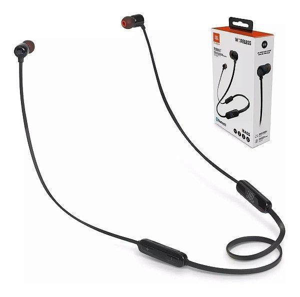 Fones de Ouvido Bluetooth s/ Fio JBL (T110) - Preto