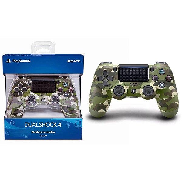 Controle Joystick Original Sony Dualshock 4 Verde Camuflado para Playstation PS4