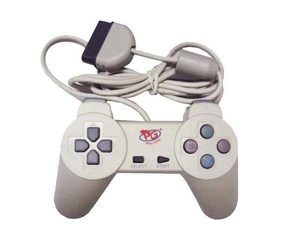 Controle Joystick Playstation PS1 Simples - Branco