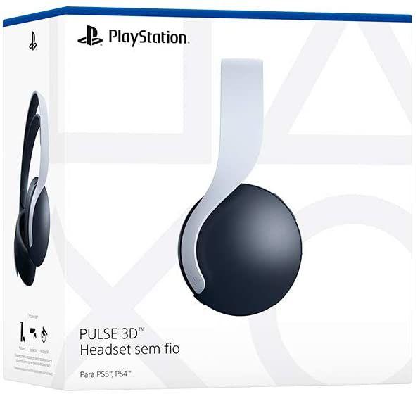Headset Sony Playstation 5 Sem Fio Wireless - Pulse 3D - PS4 - PS5 - Sony