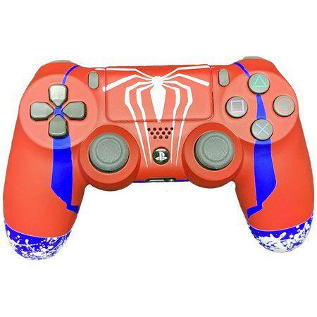 Controle Joystick Playstation 4 Sony Sem Fio Wireless Dualshock 4 Personalizado Spiderman