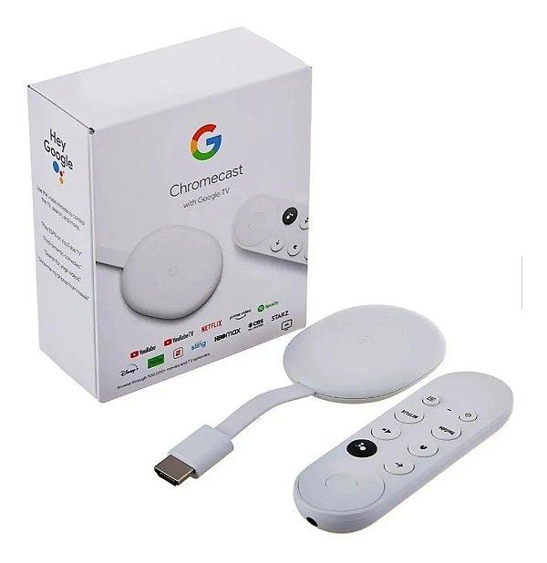 Google Chromecast com Google TV e Controle de Voz - Original