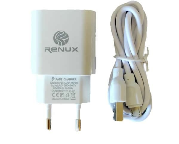 Fonte Carregador de Tomada 5v c/ Cabo V8 - Renux (RE-CAR-8016)