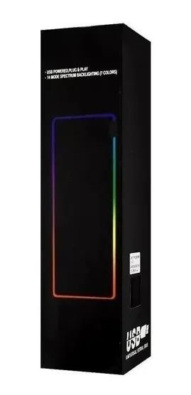 Mouse Pad Gamer c/ LED RGB 14 Efeitos - Dex (RY-2535)