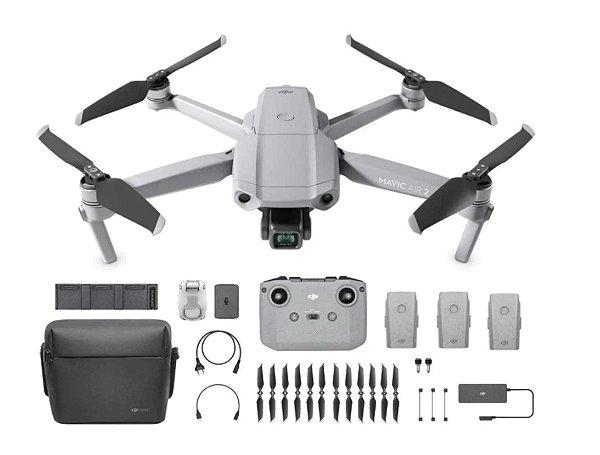Drone DJI Mavic Air 2 (BR) - Fly More Combo Anatel