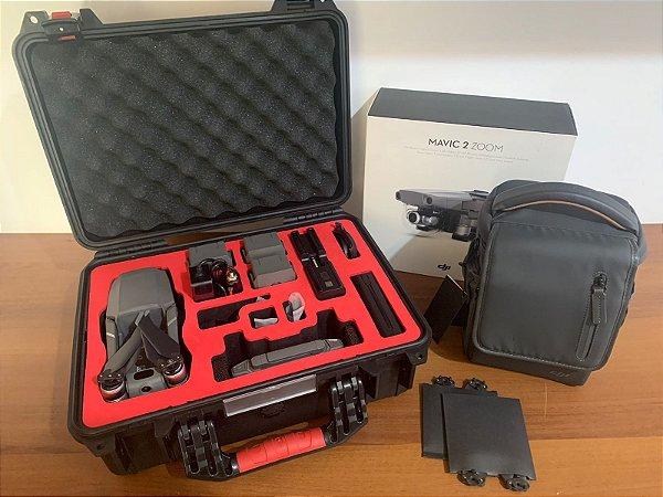 Drone Dji Mavic 2 Zoom (BR) + Fly More Combo + Case Rígido - Anatel (Seminovo)